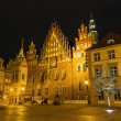 Old Town Hall by night in Wroclaw, Poland — Stock Photo
