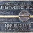 Meridian line in Wroclaw, Poland — Stock Photo