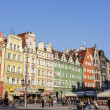Stock Photo: Tenements in old Market Square, Wroclaw