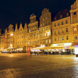 Stock Photo: South frontage of old Market Square at night