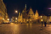 Old Town Hall by night, Wroclaw — 图库照片