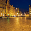 Market Square at night, Wroclaw — Stock Photo #33655183