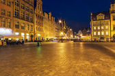 Market Square at night, Wroclaw — Stock Photo