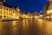 Old Market Square with Modern fountain, Wroclaw — ストック写真