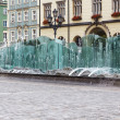 Market Square and Modern fountain in Wroclaw — Stock Photo