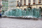 Market Square and Modern fountain in Wroclaw — ストック写真
