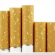 Cigarette filters put forward from the pack — Stock Photo