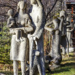 Family Mountaineers sculpture in Zakopane — Stock Photo