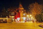 Villa Poraj at night in Zakopane — Stock Photo