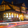 Villa Slimak formerly Zoska at night in Zakopane — Stock Photo