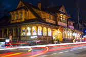 Villa Slimak formerly Zoska at night in Zakopane — ストック写真