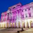 Illuminated facade of Staszic Palace in Warsaw — Stock Photo