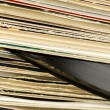 Stock Photo: Stack of vinyl records in covers