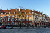 Townhouses of New Town Market in Warsaw — Stock Photo