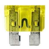 Yellow car fuse — Stock Photo