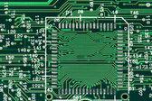 Green printed circuit board — Stock Photo