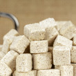 Pile of sugar cubes — Stock Photo