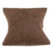 Soft pillow made of dark fabric — 图库照片