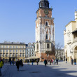 Foto de Stock  : Tower Hall on Market Square, Krakow