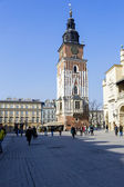 Tower Hall on the Market Square, Krakow — Stock Photo