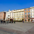 Stock Photo: North frontage of Market Square, Krakow