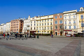 North frontage of the Market Square, Krakow — Stock Photo