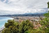 Aerial view towards the Nice, France  — Stock Photo