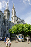 The Basilica of Lourdes — Stock Photo