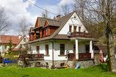 Made of brick and wood Villa in Zakopane — Stock Photo