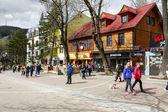 Krupowki street in Zakopane — Stock Photo