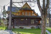 Made of wood Villa Ornak in Zakopane — Stock Photo
