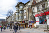 The brick house Dom Krzyzaka in Zakopane — Stock Photo