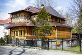 Wooden Villa built in 1908 in Zakopane — Stock Photo