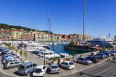 Port Lympia in Nice in France — Stock Photo