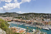 Port Lympia in Nice, aerial view — Stock Photo