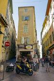 Rues étroites, la vieille ville, nice, france — Stockfoto
