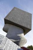 La tete carree rzeźby, Nicea, Francja — Zdjęcie stockowe