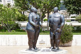 Sculpture of Adam and Eve in Monte Carlo — Stock Photo