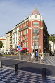 Architecture of Place Massena in Nice — Stock Photo
