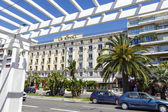Hotel Le Royal in Nice seen from Promenade — Stock Photo