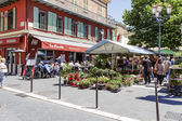 Cours Saleya in Nice, France  — Stock Photo