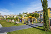 Playground at Promenade du Paillon in Nice — Stock Photo