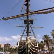 Historic and famous Spanish galleon Santisima Trinidad - Stock Photo