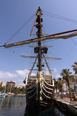 Historic and famous Spanish galleon Santisima Trinidad — Stock Photo