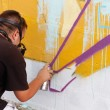 Madrid, SPAIN Sep 18 - graffiti artists work on their creations — Stock Photo #13180993