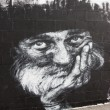 Stock Photo: Madrid, SPAIN Sep 18 - graffiti drawn on first day of in