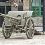 Gunner cannon the Spanish Civil War 1935 — Stock Photo