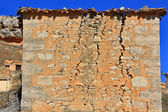 House with cracks in the facade — Stock Photo