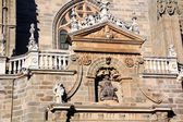 Details of the famous Catholic cathedral in Astorga, Spain — Stock Photo