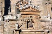 Szczegóły katolickiej katedry w mieście astorga, hiszpania — Zdjęcie stockowe